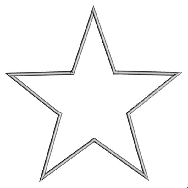 Звезда машинная вышивка